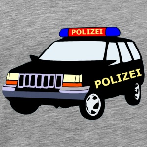 Police car of long sleeve shirts - Men's Premium T-Shirt