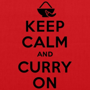 Keep calm and curry on Koszulki - Torba materiałowa