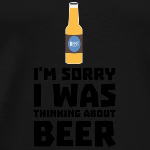 Thinking about beer bottle S860x Baby Long Sleeve Shirts - Men's Premium T-Shirt