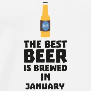 Best Beer is brewed in January Sxe8k Långärmade T-shirts baby - Premium-T-shirt herr