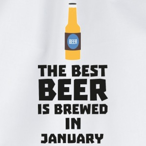 Best Beer is brewed in January Sxe8k T-Shirts - Drawstring Bag