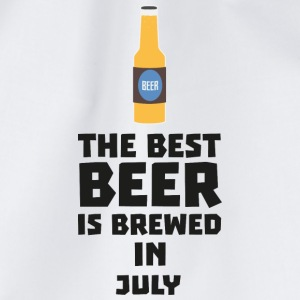 Best beer is brewed in July. S4kf3 T-Shirts - Drawstring Bag