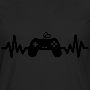 Gaming is life, geek,gamer,console - T-shirt manches longues Premium Homme