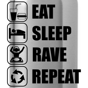 Eat,sleep,rave,repeat  - Trinkflasche