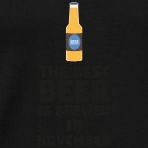 Best beer is brewed in November. Sk446 Baby Long Sleeve Shirts - Men's Premium T-Shirt