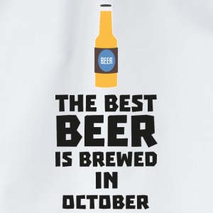 In October, best beer is brewed. S5k5z Baby Long Sleeve Shirts - Drawstring Bag