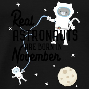 Astronauts were born in November. S5l6j Baby Long Sleeve Shirts - Men's Premium T-Shirt