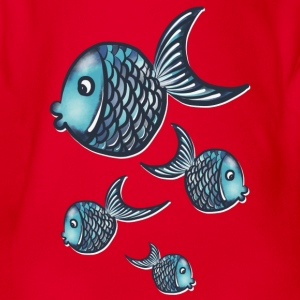 Fisches T-Shirts - Baby Bio-Kurzarm-Body