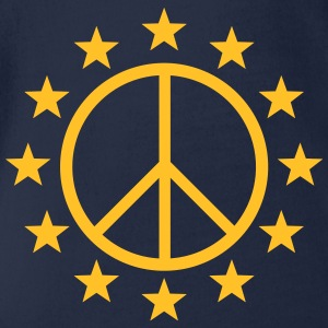 Europe Peace Sign, EU stars, flag, symbol Shirts - Organic Short-sleeved Baby Bodysuit