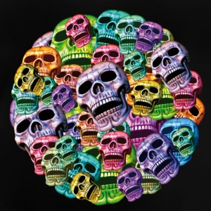colorful Skulls in a round frame Shirts - Baby T-Shirt