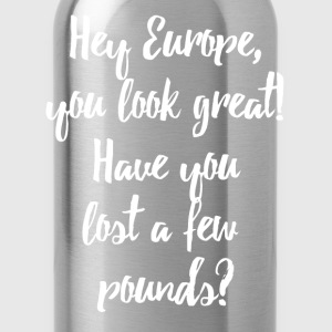 Europe Lost Pounds Political Satire Humour Bags & Backpacks - Water Bottle