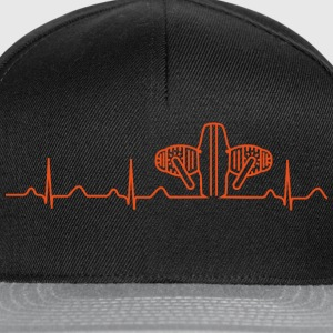 Boxer Heartbeat T-Shirt, schwarz-orange - Snapback Cap