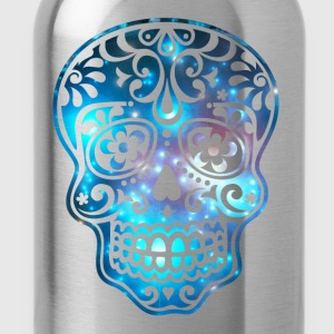 Sugar Skull, Space, Galaxy Style, Cosmic Shirts - Water Bottle