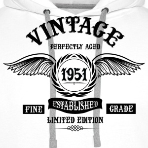 Vintage Perfectly Aged 1951 T-Shirts - Men's Premium Hoodie