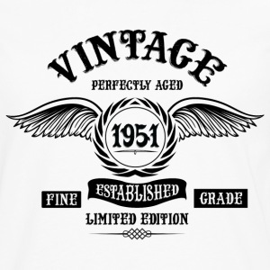 Vintage Perfectly Aged 1951 T-Shirts - Men's Premium Longsleeve Shirt