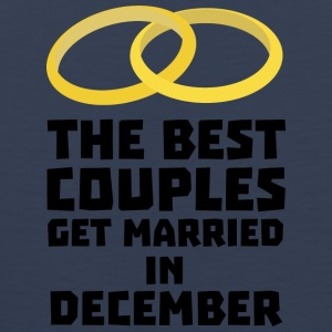 The best couples in December S0pn6 T-Shirts - Men's Premium Tank Top