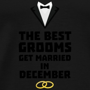 The best groom in December Sd18l Baby Long Sleeve Shirts - Men's Premium T-Shirt