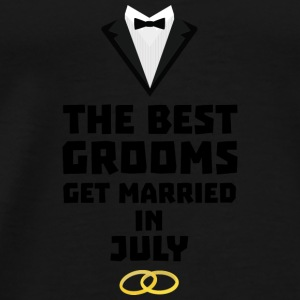 The best groom in July S3uvi Baby Long Sleeve Shirts - Men's Premium T-Shirt