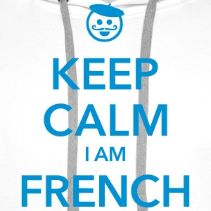 KEEP CALM I AM FRENCH - Men's Premium Hoodie
