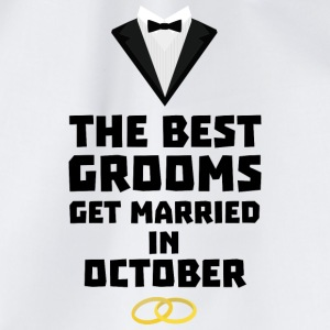 The best groom in October Stf13 T-Shirts - Drawstring Bag