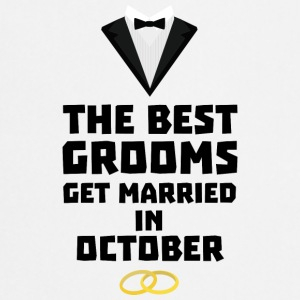 The best groom in October Stf13 T-Shirts - Cooking Apron