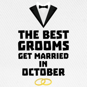 The best groom in October Stf13 T-Shirts - Baseball Cap
