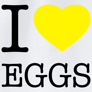 I LOVE EGGS - Drawstring Bag