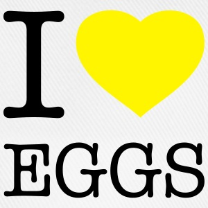 I LOVE EGGS - Baseball Cap