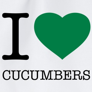 I LOVE CUCUMBERS - Turnbeutel