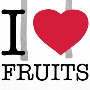 I LOVE FRUITS - Herre Premium hættetrøje