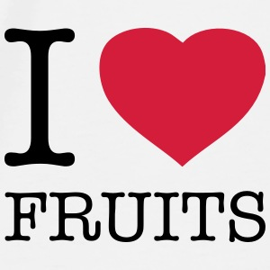I LOVE FRUITS - Premium T-skjorte for menn