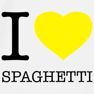 I LOVE SPAGHETTI - Men's Premium T-Shirt