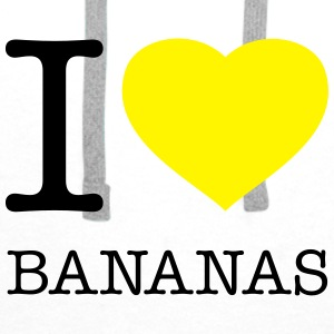 I LOVE BANANAS - Premium hettegenser for menn