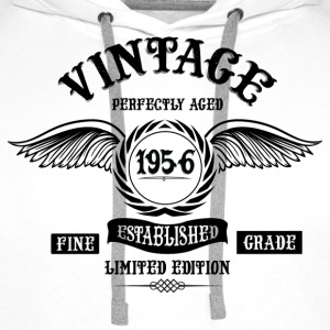 Vintage Perfectly Aged 1956 T-Shirts - Men's Premium Hoodie