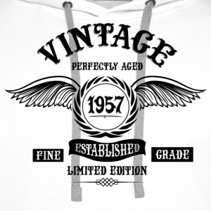 Vintage Perfectly Aged 1957 T-Shirts - Men's Premium Hoodie