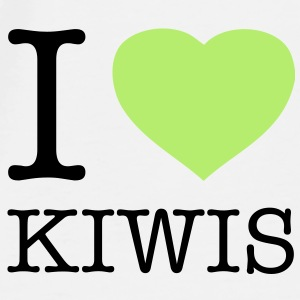 I LOVE KIWIS - Premium T-skjorte for menn