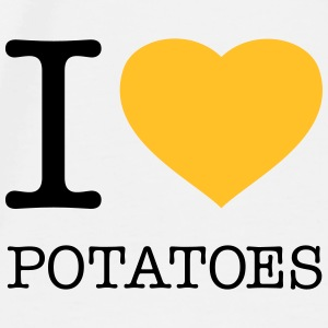 I LOVE POTATOES - Premium T-skjorte for menn