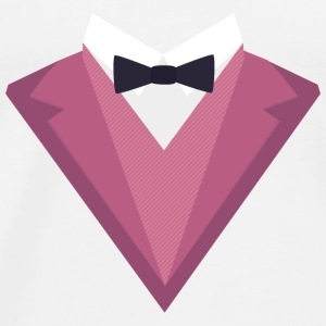 Pink Tuxedo with white bow tie Sp81h Baby Long Sleeve Shirts - Men's Premium T-Shirt