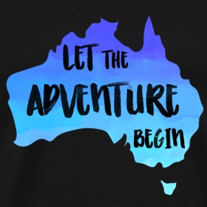 Let The Adventure Begin - Australien Karte - Männer Premium T-Shirt