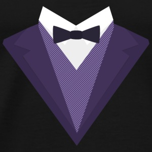 Purple Tuxedo with white bow tie S67ze Baby Long Sleeve Shirts - Men's Premium T-Shirt