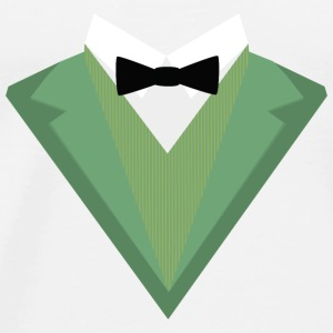 Green Tuxedo suit with a bow tie S3qgb Baby Long Sleeve Shirts - Men's Premium T-Shirt
