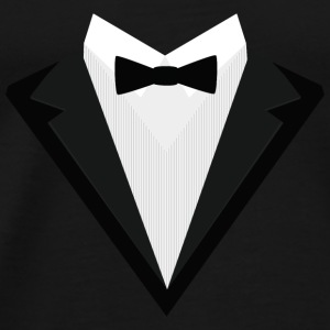Black Tuxedo with white bow tie S946n Baby Long Sleeve Shirts - Men's Premium T-Shirt