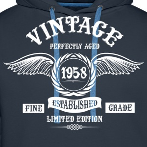 Vintage Perfectly Aged 1958 T-Shirts - Men's Premium Hoodie