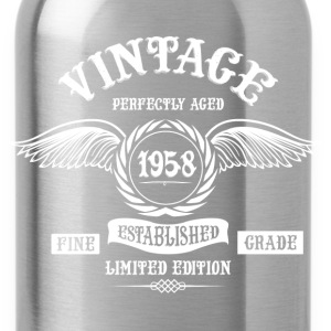 Vintage Perfectly Aged 1958 T-Shirts - Water Bottle