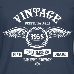 Vintage Perfectly Aged 1958 T-Shirts - Men's Premium Longsleeve Shirt