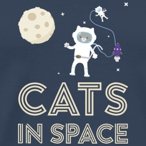 Cats in outer space Stfb7 Long Sleeve Shirts - Men's Premium T-Shirt