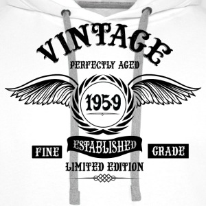 Vintage Perfectly Aged 1959 T-Shirts - Men's Premium Hoodie