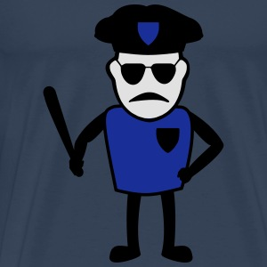 A police officer with a baton of long sleeve shirt - Men's Premium T-Shirt