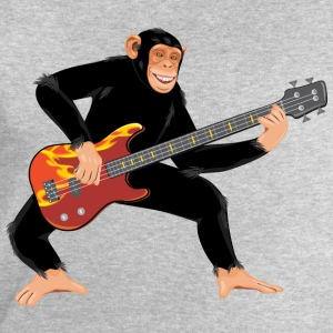 Monkey with bass guitar T-Shirts - Men's Sweatshirt by Stanley & Stella