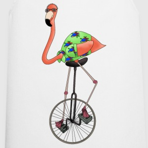 Unicycle flamingo top for women - Cooking Apron